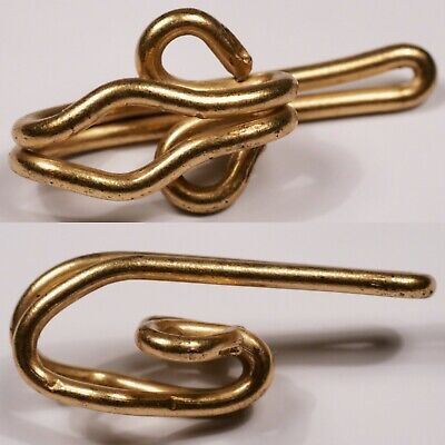 brass metal hooks for curtain header tape | 5, 10, 20 or 50 | 26 x 12mm