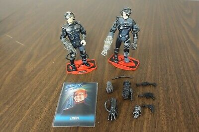 Star Trek Next Generation Picard Locutus Borg action figure lot w/ card & extras