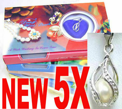 Wish Pearl Wholesale 5 Box Helix Pendant & Necklace for Women Oyster Love Pearl
