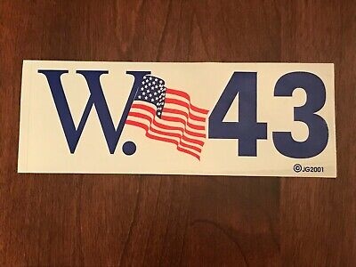 New - W. 43 -  Bumper Sticker Decal George H. W. Bush Unused