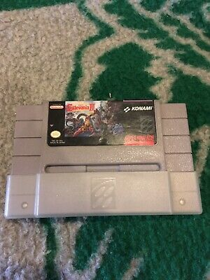 Super Castlevania IV SNES super Nintendo Authentic Cleaned Tested Dust Sleeve