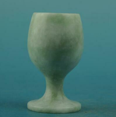 Weight: 195g  chinese old natural jade hand-carved cup a01