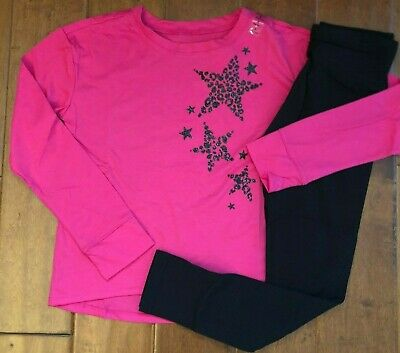 NWT JUSTICE Girls 8 10 Red Long Sleeve Tee /& Pattern Leggings Outfit