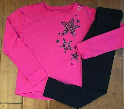 NWT JUSTICE Girls Size 10 Long Sleeve Graphic Glitter Tee & Leggings Outfit