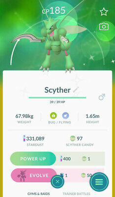 Pokemon Go Shiny Scyther Catch Guaranteed (Read Description)
