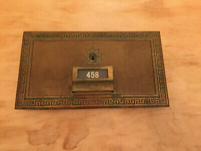 "Vintage 1970 USPS Post Office Mailbox Solid Brass Postal Door Lock Size 11"" x 6"""