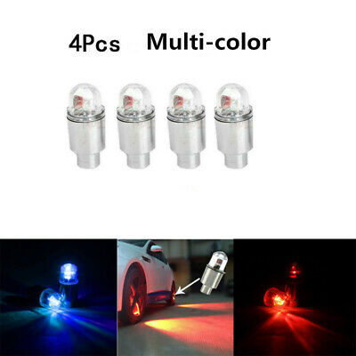 4 Pack Car Auto Wheel Tire Tyre Air Valve Stem LED Light Caps Cover Accessories