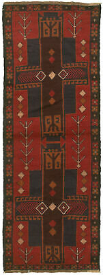 """Hand-knotted Carpet 2'4"""" x 6'8"""" Traditional Vintage Wool Rug"""