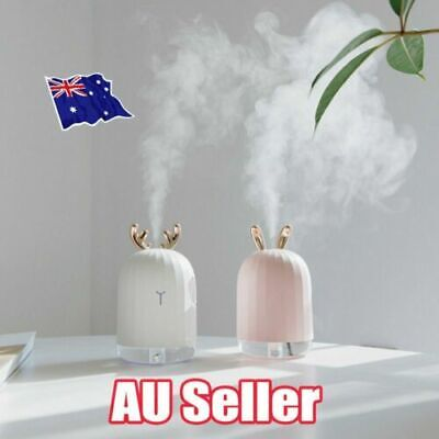USB Ultrasonic Air Humidifier Essential Oil Aroma Diffuser Aromatherapy 7 LED PP