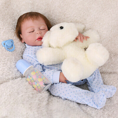 """22"""" Reborn Baby Doll Sleeping Full Body Silicone Realistic Girl Dolls Gifts Toys"""