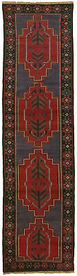 """Hand-knotted Carpet 2'3"""" x 9'0"""" Traditional Vintage Wool Rug"""
