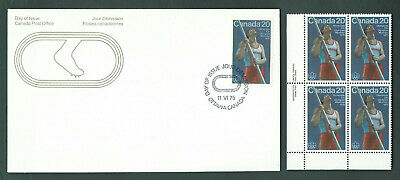 Canada # 664 // 666 LL.PL.BL. MNH set + 5 FDC's - Track and Field Sports