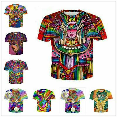 Women/Men Cartoon Hippie Musician 3D Print Casual Tshirt Funny Short Sleeve Tops