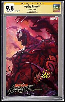 🔥 Absolute Carnage #1 Artgerm Variant CGC SS 9.8 Signature Series Ready To Ship