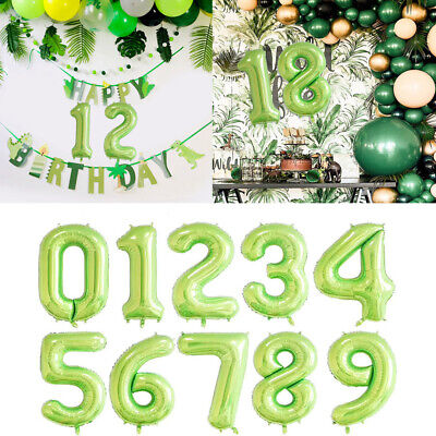 Number Foil Balloons 40 inch Digit Helium Ballons Wedding Birthday Party Decor