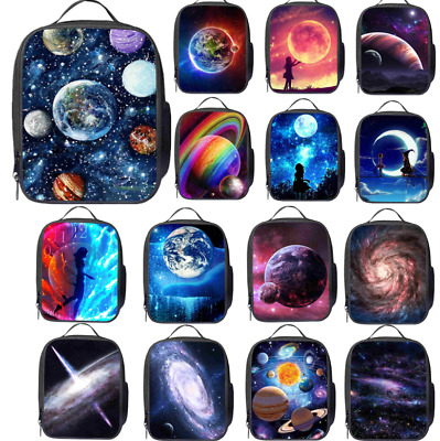 Galaxy Starry Sky Insulated Lunch Bag Box Pack Kids Girl Boys School Food Picnic