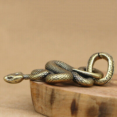 1pc Brass Snake Key Ring Boa Key chain Outdoor Small Accessories Car Hanging