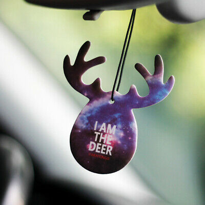 Cute Antlers Shape Car Perfume Papers Hanging Pendant Car Air Freshener