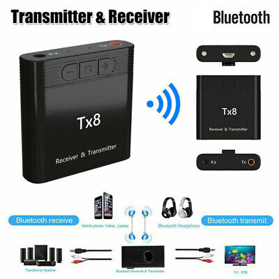 Bluetooth V5.0 Transmitter Receiver Wireless AUX Audio Music 3.5mm Aux Adapter