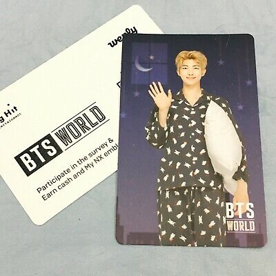 BTS WORLD OST Photocard Game Coupon Card Official New Bangtan Boys Rap Monster