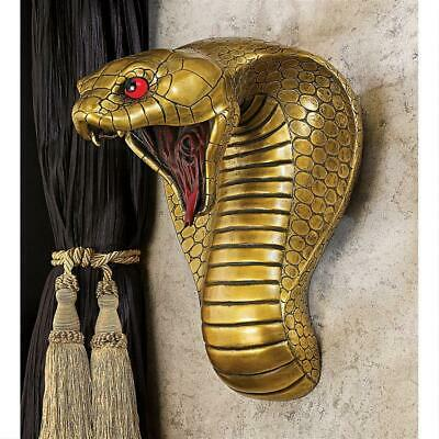 Design Toscano Egyptian Cobra Goddess Wall Sculpture Modern Style Brown Finish