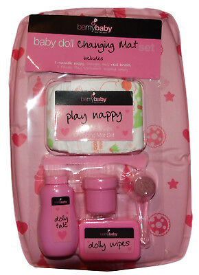 Baby Dolls Changing Mat, Nappy Set Toy New