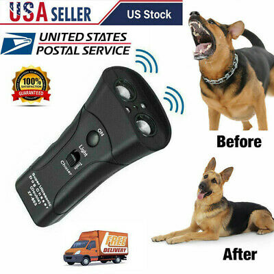 Dog Repeller Anti Barking Pet Training Device LED Light Ultrasonic Gentle Chaser