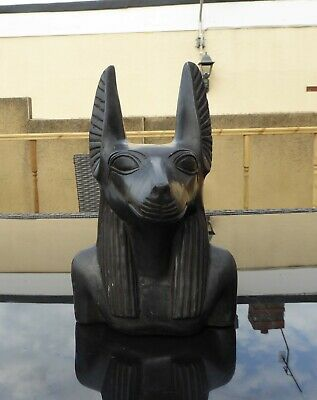 Bust of the Egyptian God Anubis statue or large figurine