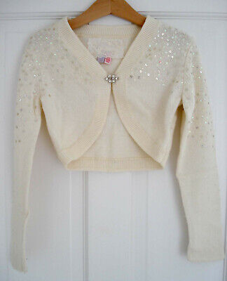 MONSOON KIDS girl's occasion cream cardigan excellent condition – Size 4-6 years