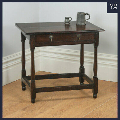 Antique English Georgian 18th Cen Style Oak Occasional Side Hall Writing Table
