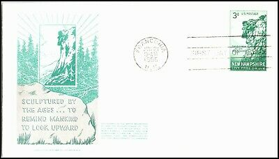 Oas-Cny 5263 Fdc 1955 Old Man Of The Mts Nh Scott 1068
