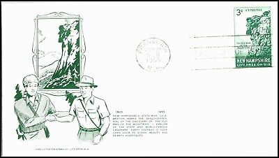Oas-Cny 5264 Fdc 1955 Old Man Of The Mts Nh Scott 1068