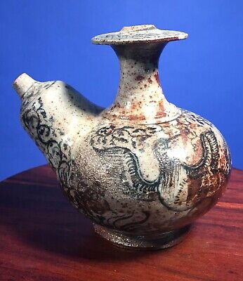 6th century antique kendi Ewer Vietnam bird