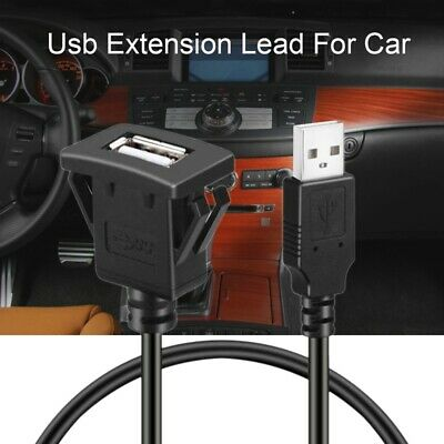 Car Dash board Flush Mount USB Male to Female Socket Extension Panel Cable F9L1