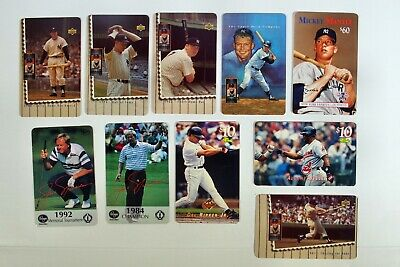 27 Phonecard Lot. Mickey Mantle, Jack Nicklaus, Rusty Wallace, Coca Cola & More