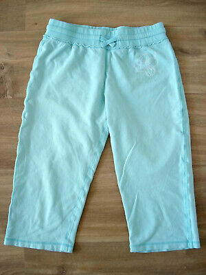 H&M girl's jersey capri trousers minty blue – Size 12-13 years (EUR 158)