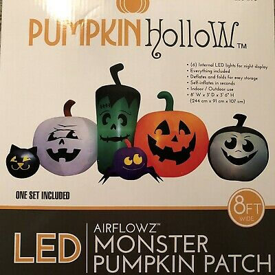 Monster Pumpkin Patch Inflatable 8' Wide New in Box Airflowz