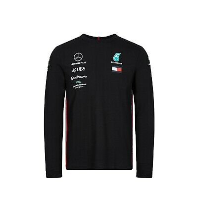 Mercedes AMG F1 2019 Team Long Sleeve T-Shirt Black - NEW and OFFICIAL