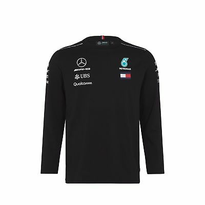2018 official Mercedes F1 team long sleeve shirt - black - NEW