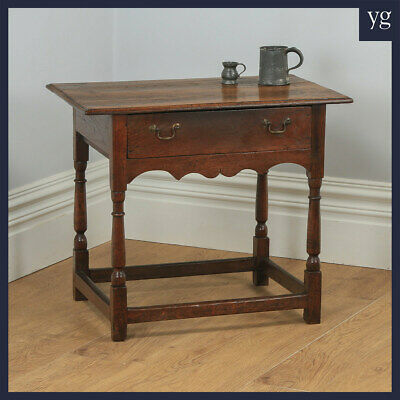 Antique English 18th Century Georgian Oak Occasional Side Hall Writing Table