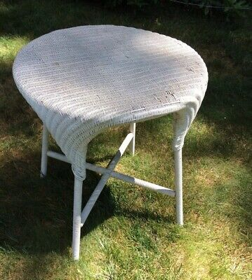 Vintage Antique Round Wicker Table Made By Lloyd Loom Products Michigan