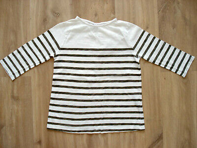 ZARA girl's stripped three quarters sleeve top – Size 9-10 years (140cm)