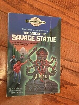 The Case of the Savage Statue Paperback SUPER RARE Excellent Condition