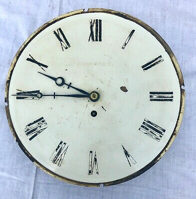 Antique EDWARDS LONDON Fuse Clock Dial and Movement : 12 inch Diameter Dial