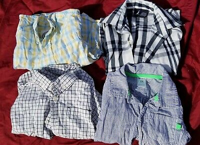 24 months And 2t Long Sleeved Button Down Shirts (lot of 4)