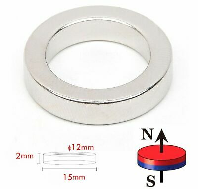Neodymium RINGS Magnets ~ 15mm dia x 2mm Thick ~ Countersunk Hole Cylinder DISCS