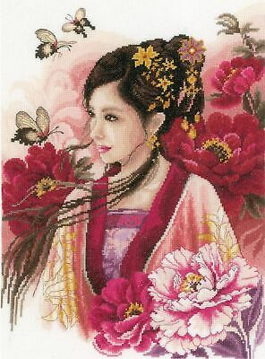 Asian Lady in Pink cross stitch chart