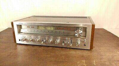 Pioneer Sx-750 Vintage Silver Face Stereo Receiver Working A Few Issues)