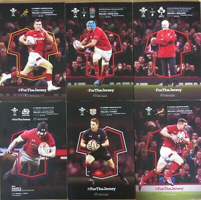 Wales Rugby International X 6 2018/19 Mint