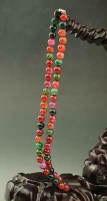 chinese natural jade bead Hand woven necklace a01